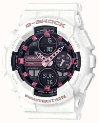 Casio G-шок | унисекс спорт | ремешок из белой смолы | черный циферблат GMA-S140M-7AER