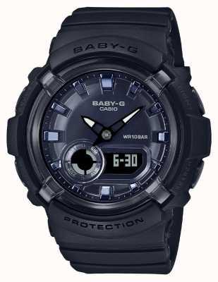 Casio Baby-g | ремешок из черной смолы | черный циферблат | BGA-280-1AER