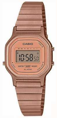 Casio Винтаж | стальной браслет с покрытием из розового золота | цифровой дисплей LA-11WR-5AEF
