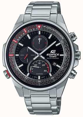 Casio Здание | тонкий хронограф с сапфировым стеклом | браслет из нержавеющей стали EFS-S590D-1AVUEF