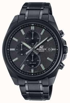 Casio Строение все черное ip | черный браслет из нержавеющей стали | черный циферблат EFV-610DC-1AVUEF
