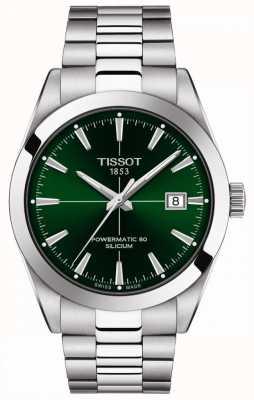 Tissot | господа автомат | powermatic 80 | браслет из нержавеющей стали | зеленый циферблат | T1274071109101