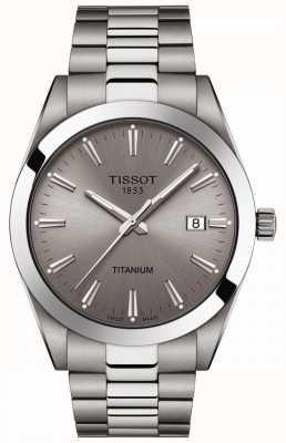 Tissot Господа титан | серебряный / серый титановый браслет | серый циферблат T1274104408100