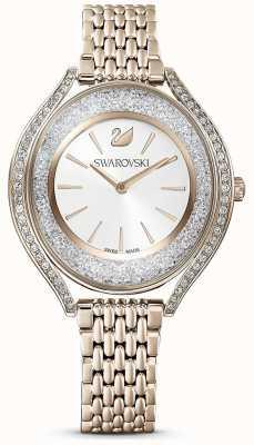 Swarovski | кристальная аура | женские | золотой браслет из нержавеющей стали | белый циферблат | 5519456