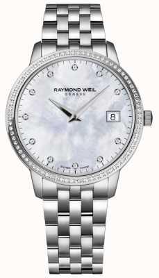 Raymond Weil Токката | женский перламутровый циферблат с бриллиантами | 5388-STS-97081