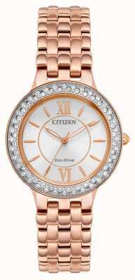 Citizen Женский браслет eco-drive из розового золота FE2088-54A