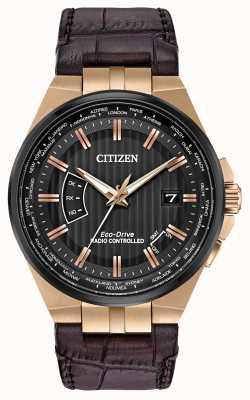 Citizen Вечный мужской мир на | коричневый кожаный ремешок CB0168-08E