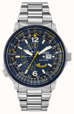 Citizen Мужской эко-драйв blue promaster nighthawk BJ7006-56L