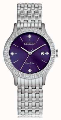 Citizen Женский чехол с кристаллами eco-drive FE1200-51L