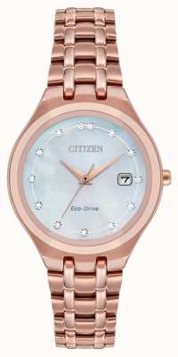 Citizen Женский циферблат с бриллиантами Eco-Drive EW2489-54D
