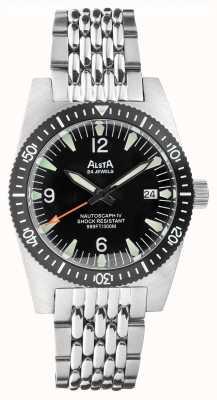 Alsta Nautoscaph iv | автоматический | черный циферблат | браслет из нержавеющей стали NAUTOSCAPH IV