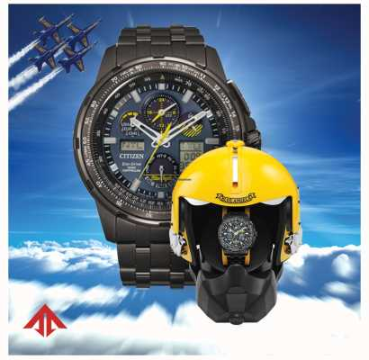 Citizen Эко-драйв для мужчин promaster skyhawk blue angels JY8097-58L