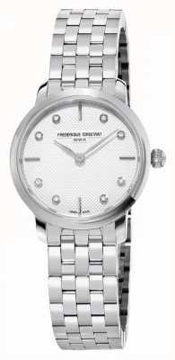 Frederique Constant Изящный женский циферблат с бриллиантами | браслет из нержавеющей стали FC-200STDS26B