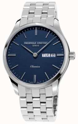 Frederique Constant Классический мужской кварц | браслет из нержавеющей стали | синий циферблат FC-225NT5B6
