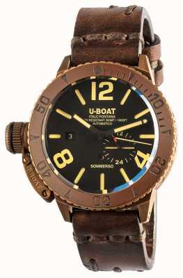 U-Boat Sommerso 46 бронзовый автоматический коричневый кожаный ремешок 8486/C
