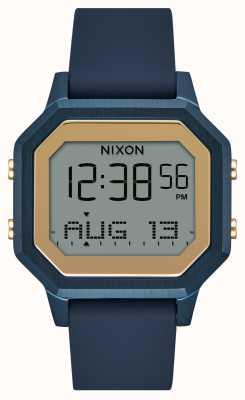 Nixon Часы Siren ss с силиконовым ремешком темно-синего цвета A1211-1859