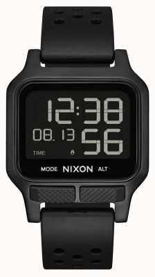 Nixon Тепло | часы с полностью черным каучуковым ремешком A1320-001