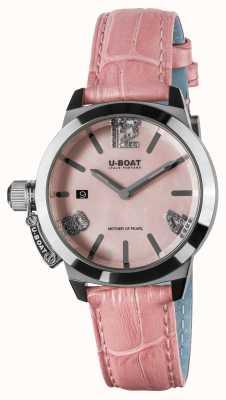 U-Boat Кожаный ремешок Classico 38, розовый 8480