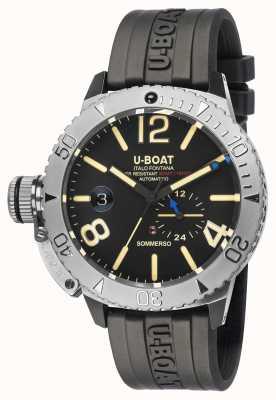 U-Boat Sommerso / часы с черным каучуковым ремешком 9007/A