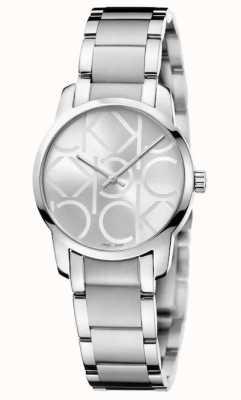 Calvin Klein Город | женский браслет из нержавеющей стали | серебряный циферблат K2G23142