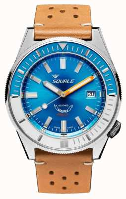 Squale Голубая кожа Matic | автоматический | синий циферблат | коричневый кожаный ремешок MATICXSE.PTC-CINU1565CM
