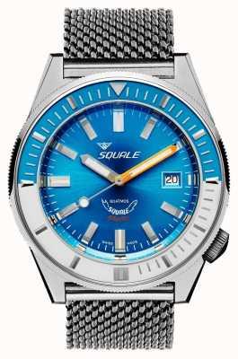 Squale Голубая матовая сетка | автоматический | синий циферблат | браслет из нержавеющей стали MATICXSE.ME22-CINSS22