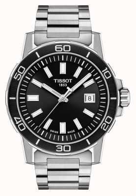 Tissot Суперспорт | черный циферблат | браслет из нержавеющей стали T1256101105100