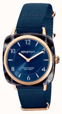 Briston Клубный шик | темно-синий циферблат 36 мм из розового золота | темно-синий ремешок нато 21536.PRA.UB.33.NMB