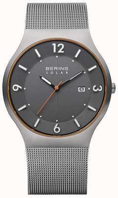 Bering Солнечная | мужские | браслет из серой стали 14440-073-A