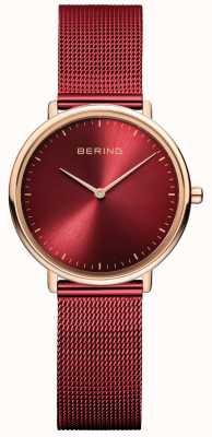 Bering Классические женские часы из красного и розового золота 15729-363