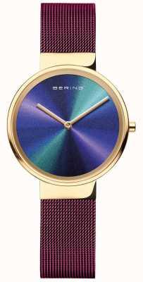 Bering Классический | женские | фиолетовая сетка | разноцветный циферблат 19031-929