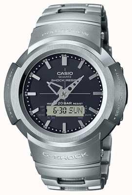 Casio G-шок | металлический браслет | черный циферблат | контролируется радио AWM-500D-1AER