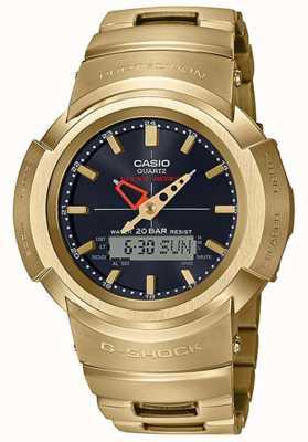 Casio G-шок | металлический браслет | позолота | контролируется радио AWM-500GD-9AER