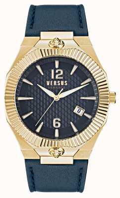 Versus Versace Часы Echo Park с синим кожаным ремешком VSP1P0221