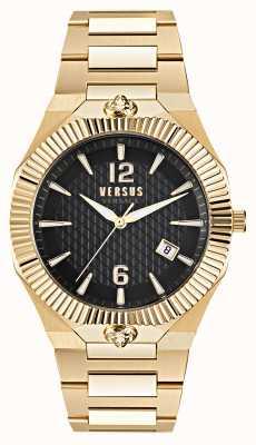 Versus Versace Золотые часы с черным циферблатом из нержавеющей стали Echo Park VSP1P0721