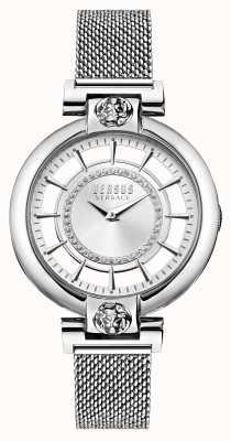 Versus Versace Женский серебряный браслет из нержавеющей стали с сеткой в виде озера VSP1H0521