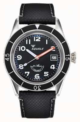 Squale Sub-39 | черный арабский | черный циферблат | черный кожаный ремешок SUB-39MON