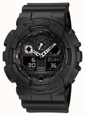 Casio G-shock хронограф сигнальный черный GA-100-1A1ER