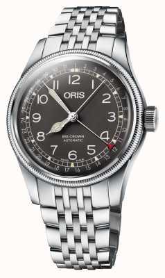 ORIS Большая заводная указка с указателем даты Браслет 40 мм из нержавеющей стали 01 754 7741 4064-07 8 20 22