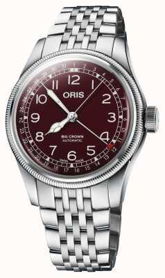ORIS Большая заводная головка, указатель даты, 40 мм, красный циферблат 01 754 7741 4068-07 8 20 22