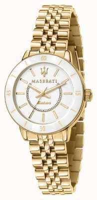 Maserati Женские часы successo с позолотой на солнечных батареях R8853145502
