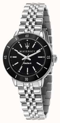 Maserati Женские часы successo с черным циферблатом и солнечным светом R8853145506