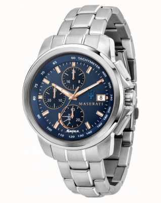 Maserati Мужские часы Successo solar с синим циферблатом R8873645004