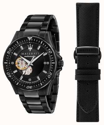 Maserati Часы Sfida с черным покрытием с бриллиантами R8823140005