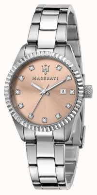 Maserati Женский циферблат с розовыми кристаллами. R8853100509