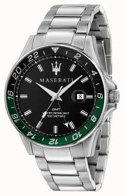 Maserati Двухцветный безель sfida gents черный / зеленый R8853140005