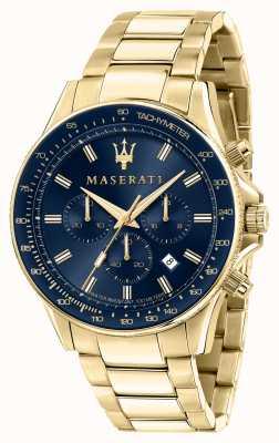 Maserati Мужские часы sfida с покрытием из желтого золота R8873640008