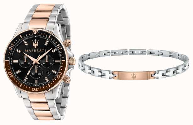 Maserati Подарочный набор sfida gents браслет и часы R8873640010