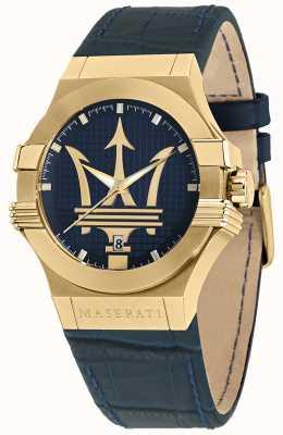 Maserati Часы Potenza Gents с синим кожаным ремешком R8851108035