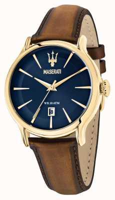 Maserati Коричневый кожаный ремешок epoca gents R8851118012
